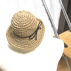 衣替え/おでかけ/雑貨/ハンドメイド 帽子その2です(^-^) これは、じつは…