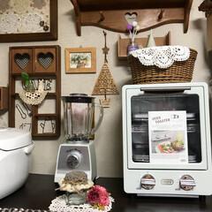 トースター オーブントースター おしゃれ 2枚 縦型 オリジナルレシピ付 コンパクト キッチン家電 プレゼント ラドンナ Toffy トフィ―オーブントースター | Toffy(トースター)を使ったクチコミ「こんばんは(o^^o) いつもありがとう…」