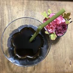 ガラスコップ/grass/グラス/ひとやすみ/一休み/アイスコーヒー/... こんばんは(o^^o) いつもありがとう…
