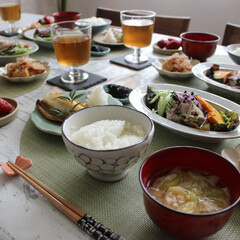 わたしのごはん/お昼ご飯/おうちごはん/和食/家族団らん/春のご馳走/... わたしのごはん♬  今日のランチです。 …
