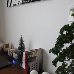 雑貨/北欧雑貨/ルミナラキャンドル/ファブリックパネル/観葉植物/緑のある暮らし/... ワークデスクの上の雑貨です。  大好きな…