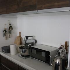 キッチン雑貨/ラッセルホブス/ブレンダー/トースター/マグカップツリー/カッティングボード/... キッチンの背面収納のカウンターです。 主…