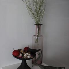 雑貨/ドライフラワー/フラワーベース/アクタス/鋳物の置物/雑貨だいすき キッチンのカウンターに飾ってある雑貨です…