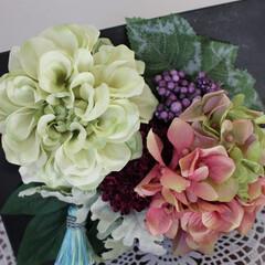 アーティフィシャルフラワー/アンティーク風/シャビーシック パリの花屋アンティークフレーム♪ ミンネ…