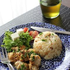 ランチ/カフェ風ごはん/チキン料理/ワンプレート/ダイエットメニュー/わたしのごはん チキンでダイエットメニュー  鶏むね肉を…