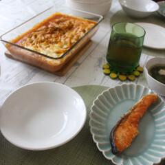 スパグラ/こんがり/チーズトロトロ/夕飯/こんがりグルメ 夕飯に子供の好きなスパゲティーグラタンを…