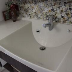おうち自慢/洗面/洗面ボール/パナソニック/ラシス 洗面です。 ゆったり広めのなので汚れ物な…