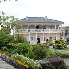 わたしのGW/グラバー邸/観光/長崎県 グラバー邸にて♬  鮮やかな花々とノスタ…