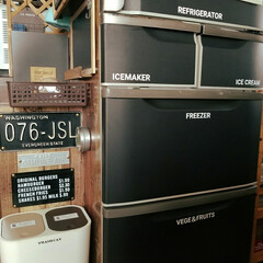 自作ステッカー/カッティングシート/黒板シート/冷蔵庫リメイク/冷蔵庫
