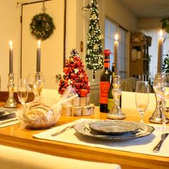キャンドル/夕食/ディナー/テーブルコーディネート/クリスマス2019 クリスマスディナー🍽🎄(3枚目)