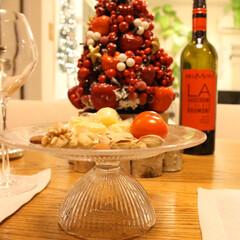 キャンドル/夕食/ディナー/テーブルコーディネート/クリスマス2019 クリスマスディナー🍽🎄(2枚目)