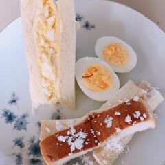 朝食/サンドイッチ/卵だらけ/手抜き料理/子供は天使👼 朝食にサンドイッチがいいと言われ 時間な…
