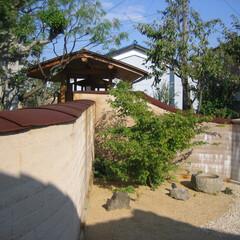 版築/塀/門/アプローチ 姫路市で版築の塀と門・アプローチを作りま…