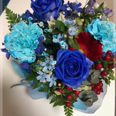 インテリア/住まい/記念日 プロポーズ記念日に彼氏から、お花をもらっ…