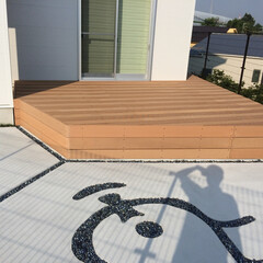ウッドデッキ/人工木材/再生木材 人工木材のウッドデッキ
