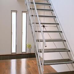 高所恐怖症でも大丈夫/整理収納アドバイザー/お気に入りの空間/ストリップ階段/玄関インテリア/デザイン階段/... もうすぐ築4年。この森田アルミ工業さまの…(1枚目)