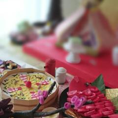 ペーパークイリング/こじゃる/紙/お雛様/ペーパークラフト/クラフト ひな祭りのお祝いを紙を使ってお料理のミニ…