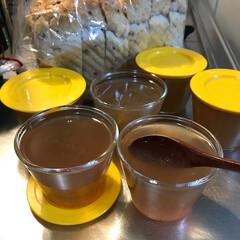 創作爽やかゼリー/粉寒天/おうちごはん 昨夜、作ったジャムのお鍋に付いて居た残り…