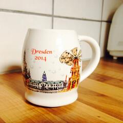 グリューワイン/マグカップ/ドイツ/クリスマス ドレスデンで買った、クリスマスマーケット…