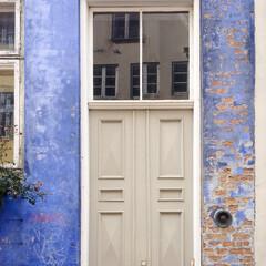 ペイント/漆喰/ブルー/青 コペンハーゲンで見つけた、見事な色と質感…
