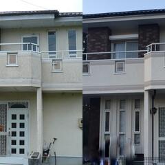 外壁塗装/屋根塗装/塗替え 塗替え塗装工事施工前と施工後