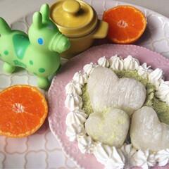 クッキング/料理/スイーツ/お餅/フォト 写真/フォトコンテスト/... お餅♡スイーツ♡ 青きな粉に三温糖を加え…