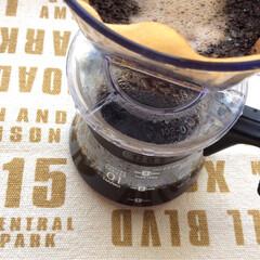 ファブリック/コットン/マット/100均/コーヒー/ハンドメイド/... 今朝は   縦35 × 横50 ㎝ の …