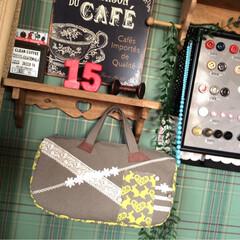 バック/帆布/ハンドメイド/手作り/ディスプレイ/アトリエ/... 帆布を 使った バックです♪ うさぎ柄と…