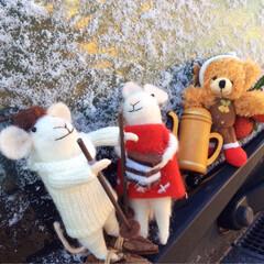 雪/クリスマス/コーヒー/珈琲/イメージ/マスコット/... 寒い冬の〜★コーヒータイム♡