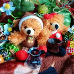 クリスマス/サンタ/トナカイ/マスコット/雑貨/コーヒー/... おうちカフェ♡クリスマス♡