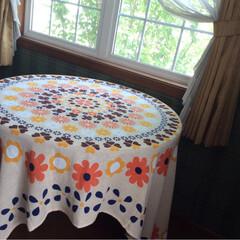 ファブリック/テーブルクロス インド綿の 長方形の フリークロス。 中…
