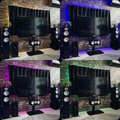 家電/テレビスタンド/壁寄せ/AVアンプ/間接照明/LED/... ✨テレビ周りスッキリ計画✨ 横型AVラッ…(3枚目)
