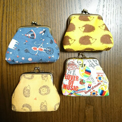 タオルハンカチ/手作り/小豆カイロ/がま口/イベント 👛がま口作りました🤗 以前買っておいた布…