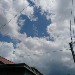 空/ハート/入道雲/夏 見上げれば夏の空、入道雲? あれ❗雲が抜…