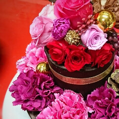 プリザーブドフラワー/プリザ教室/Xmasケーキ/生クリームケーキ/チョコレートケーキ/手作りケーキ/... 今年のXmasケーキはこちら! チョコレ…(5枚目)