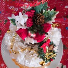 プリザーブドフラワー/プリザ教室/Xmasケーキ/生クリームケーキ/チョコレートケーキ/手作りケーキ/... 今年のXmasケーキはこちら! チョコレ…(2枚目)