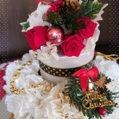 プリザーブドフラワー/プリザ教室/Xmasケーキ/生クリームケーキ/チョコレートケーキ/手作りケーキ/... 今年のXmasケーキはこちら! チョコレ…