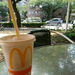 買い物/アイスコーヒー/一服 この暑い中💦近所の100均まで買い物、一…