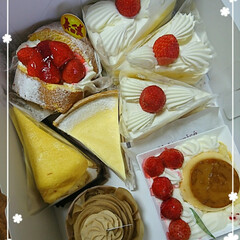 誕生日/ショートケーキ/おすそ分け/葡萄/パン/柚子 昨日は長男の誕生日🎂 なんて🍰を喜ぶ年齢…