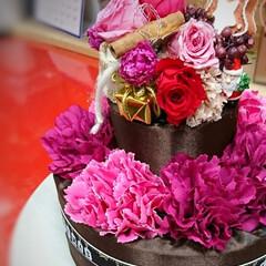 プリザーブドフラワー/プリザ教室/Xmasケーキ/生クリームケーキ/チョコレートケーキ/手作りケーキ/... 今年のXmasケーキはこちら! チョコレ…(4枚目)