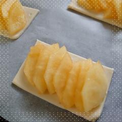 アップルパイ/🍎りんご/パイシート/新鮮/野菜 おはようございます🌄 週末冷凍庫にパイシ…(3枚目)