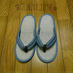台所/草履/スリッパ/オリンピック 草履スリッパ3足目🎶 寒い季節から履いて…