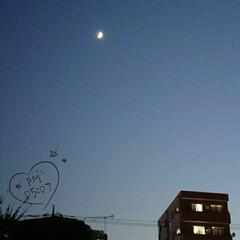 近づく冬/夜空/月/夕方 買い物帰り 🌛月があんまり綺麗だったので…