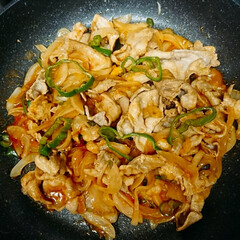 ポークケチャップ/豚肉/夕飯/レシピ 昨晩の夕飯《ポークケチャップ》フライパン…