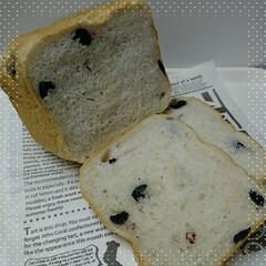 ブルーベリー/ホームベーカリー/食パン いつもの食パンにドライのブルーベリーを入…