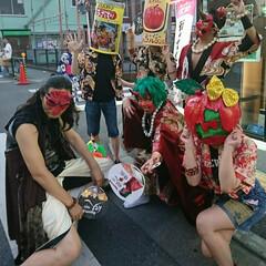 パレード/囃子/跳ね人/化け人/夏まつり/ねぶたまつり 一昨日から始まった地元商店街主催の🏮ねぶ…