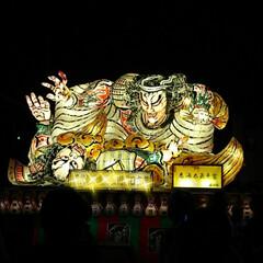 ねぶた/お祭り 今年は天候に恵まれ、お祭りが開催されてい…