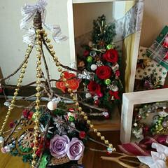 夜な夜な/飾り付け/プリザ/クリスマス 🎄クリスマス飾り 配置やっと出来ました^…(3枚目)
