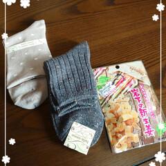 リミ友/贈り物/靴下/温かいメッセージ 買い物から帰ってポストを覗いたらリミ友さ…