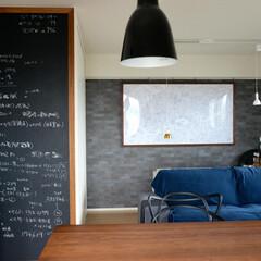 黒板/オーダー家具/注文家具/インテリア/オーダー額 壁面の黒板。大きな額を製作させていただい…